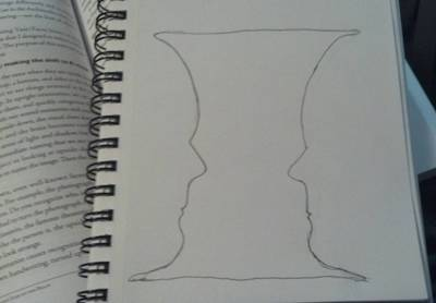face/vase drawing